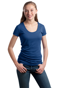 District Threads®- Junior Ladies Deep Scoop Tee DT245