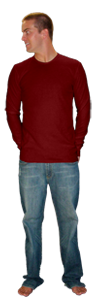 American Apparel Longsleeve T-shirts T407 T407