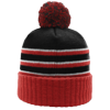 Pom-Beanie-W-Cuff-134-Black-Red-White