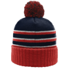 Pom-Beanie-W-Cuff-134-Navy-Red-White