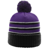 Pom-Beanie-W-Cuff-134-Purple-Black-White