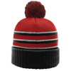Pom-Beanie-W-Cuff-134-Red-Black-White