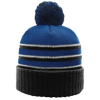 Pom-Beanie-W-Cuff-134-Royal-Black-White