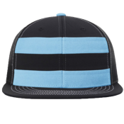 Nylon Striped Mesh Snapback Hat - 162 162