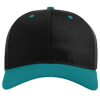 Pro-Twill-Snapback-Cap-212-Black-Blue-Teal