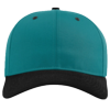 Pro-Twill-Snapback-Cap-212-Blue-Teal-Black