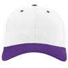 Pro-Twill-Snapback-Cap-212-White-Purple