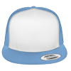 Flat-Bill-Trucker-Hat-6006W-Columbia-Blue
