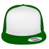 Flat-Bill-Trucker-Hat-6006W-Kelly-Green