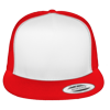 Flat-Bill-Trucker-Hat-6006W-Red