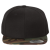 Wool-Blend-Flat-Bill-Snapback-Cap-6089M-Black-Camo