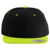Wool-Blend-Flat-Bill-Snapback-Cap-6089M-Black-Neon-Green