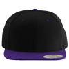 Wool-Blend-Flat-Bill-Snapback-Cap-6089M-Black-Purple