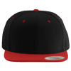 Wool-Blend-Flat-Bill-Snapback-Cap-6089M-Black-Red