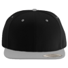 Wool-Blend-Flat-Bill-Snapback-Cap-6089M-Black-Silver