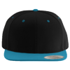 Wool-Blend-Flat-Bill-Snapback-Cap-6089M-Black-Teal