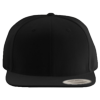 Wool-Blend-Flat-Bill-Snapback-Cap-6089M-Black