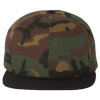Wool-Blend-Flat-Bill-Snapback-Cap-6089M-Camo-Black
