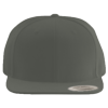 Wool-Blend-Flat-Bill-Snapback-Cap-6089M-Dark-Gray
