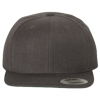 Wool-Blend-Flat-Bill-Snapback-Cap-6089M-Dark-Heather