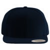 Wool-Blend-Flat-Bill-Snapback-Cap-6089M-Dark-Navy