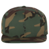 Wool-Blend-Flat-Bill-Snapback-Cap-6089M-Green-Camo