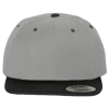 Wool-Blend-Flat-Bill-Snapback-Cap-6089M-Heather-Gray-Black