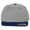Wool-Blend-Flat-Bill-Snapback-Cap-6089M-Heather-Gray-Navy