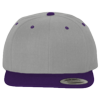 Wool-Blend-Flat-Bill-Snapback-Cap-6089M-Heather-Gray-Purple