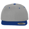 Wool-Blend-Flat-Bill-Snapback-Cap-6089M-Heather-Gray-Royal