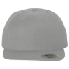 Wool-Blend-Flat-Bill-Snapback-Cap-6089M-Heather-Gray