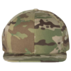 Wool-Blend-Flat-Bill-Snapback-Cap-6089M-Multicam-Green
