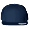 Wool-Blend-Flat-Bill-Snapback-Cap-6089M-Navy
