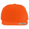 Wool-Blend-Flat-Bill-Snapback-Cap-6089M-Orange