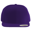 Wool-Blend-Flat-Bill-Snapback-Cap-6089M-Purple