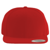 Wool-Blend-Flat-Bill-Snapback-Cap-6089M-Red