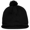 Solid_Roll_Beanies_With_PomPom_611A_Black