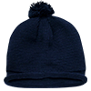 Solid_Roll_Beanies_With_PomPom_611A_Navy