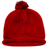 Solid_Roll_Beanies_With_PomPom_611A_Red