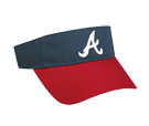 Atlanta Braves - Official MLB Visor for Little Kids  Softball League Braves-Visors