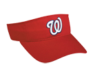 Washington Nationals- Official MLB Visor for Little Kids Softball Leagues Nationals-Visors