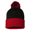 Sportsman_Pom_Pom_Knit_Cap_SP15_Black_Red