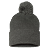 Sportsman_Pom_Pom_Knit_Cap_SP15_Dark_Heather_Gray