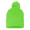 Sportsman_Pom_Pom_Knit_Cap_SP15_Neon_Green