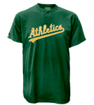 Athletics MLB 2 Button Jersey  - MA0180 Athletics-MA0180