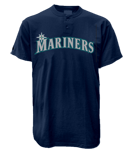 Seattle Mariners 2 Button T-Shirt-Official MLB SeattleMariners-MA081