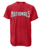 Washington Nationals 2 Button T-Shirt-Official MLB MA081-Nationals