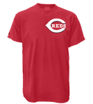 Cincinnati Reds 2 Button T-Shirt-Official MLb Cincinnati Reds-MA081