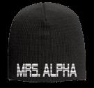 "MRS. ALPHA - 9"" Beanie Otto Cap 82-481 - 82-4812054 - Custom Heat Pressed edae1a218fd8301020148473221"