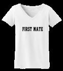 first mate - Port Authority® - Ladies V-Neck Tee - LM10022038 - Custom Heat Pressed 8f174ab10de61310201561634677